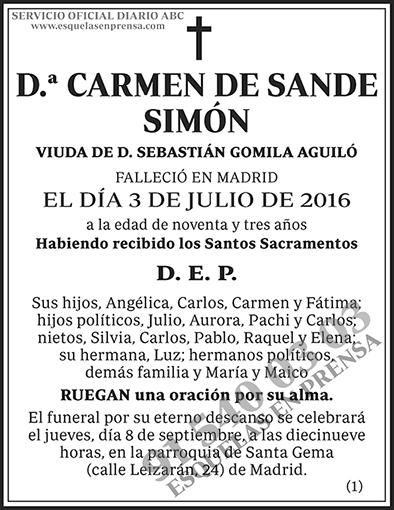 Carmen de Sande Simón